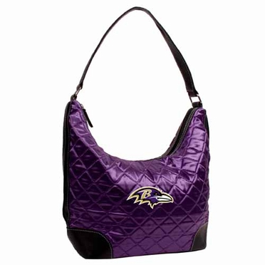 Baltimore Ravens Quilted Hobo Purse