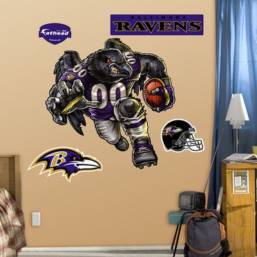 Baltimore Ravens Running Back Fathead Wall Graphic