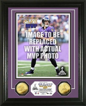 Baltimore Ravens Super Bowl XLVII MVP Gold Coin Photo Mint