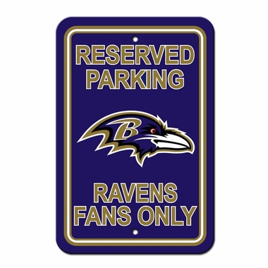 Baltimore Ravens Plastic Reserved Parking Sign (P)
