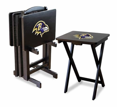 Baltimore Ravens Set of 4 Folding TV Trays