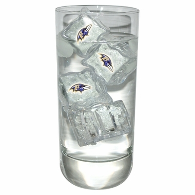 Baltimore Ravens Set of 4 Light Up Ice Cubes