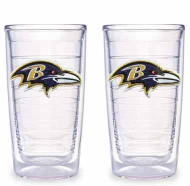 Baltimore Ravens Set of TWO 16 oz. Tervis Tumblers
