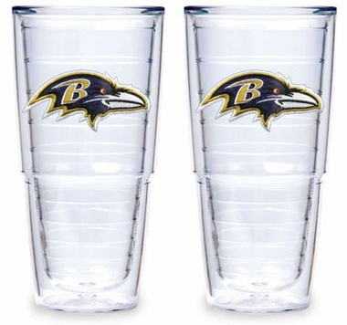 "Baltimore Ravens Set of TWO 24 oz. ""Big T"" Tervis Tumblers"