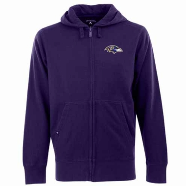 Baltimore Ravens Mens Signature Full Zip Hooded Sweatshirt (Color: Purple)