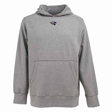 Baltimore Ravens Mens Signature Hooded Sweatshirt (Color: Gray)