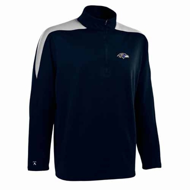 Baltimore Ravens Mens Succeed 1/4 Zip Performance Pullover (Color: Smoke)