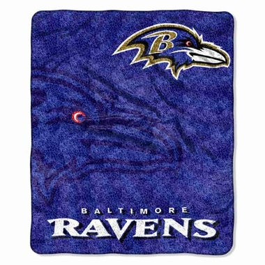 Baltimore Ravens Super-Soft Sherpa Blanket