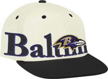 Baltimore Ravens Team Name and Logo Snapback Hat