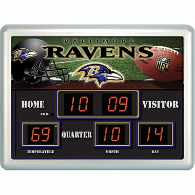 Baltimore Ravens Time / Date / Temp. Scoreboard