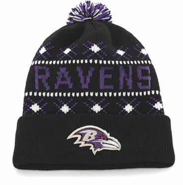 Baltimore Ravens Tip Off Cuffed Knit Hat