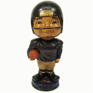 Baltimore Ravens Vintage Retro Bobble Head