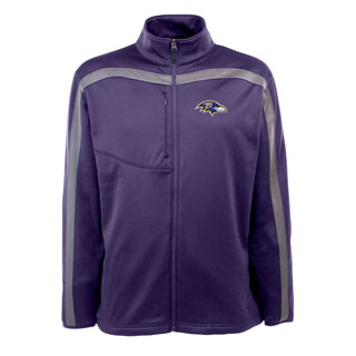 Baltimore Ravens Mens Viper Full Zip Performance Jacket (Team Color: Purple)
