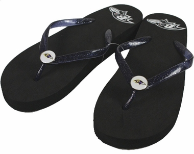 Baltimore Ravens Wedge Flip Flops