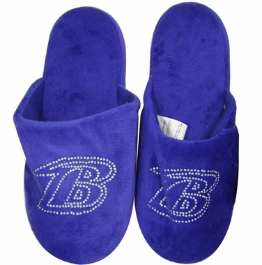 Baltimore Ravens Womens Jeweled Slippers