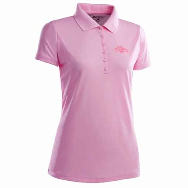 Baltimore Ravens Womens Pique Xtra Lite Polo Shirt (Color: Pink)