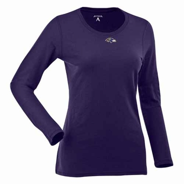 Baltimore Ravens Womens Relax Long Sleeve Tee (Team Color: Purple)
