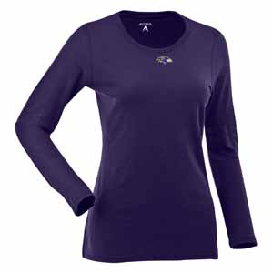 Baltimore Ravens Womens Relax Long Sleeve Tee (Team Color: Purple) - Large