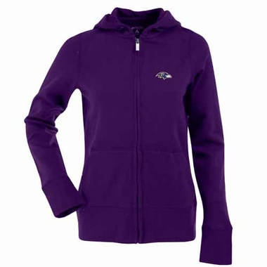 Baltimore Ravens Womens Zip Front Hoody Sweatshirt (Team Color: Purple)