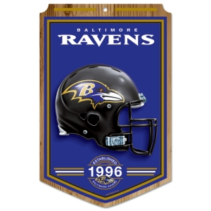 Baltimore Ravens Wood Sign