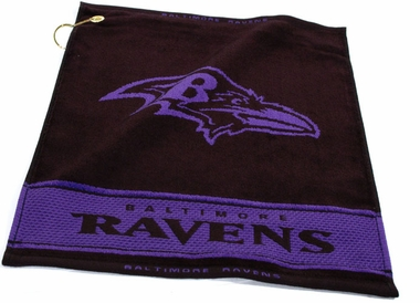 Baltimore Ravens Woven Golf Towel