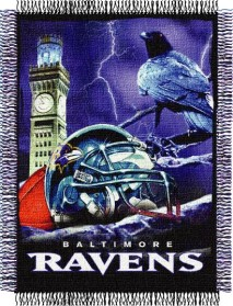Baltimore Ravens Woven Tapestry Throw Blanket