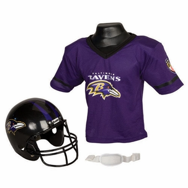 Baltimore Ravens Youth Helmet and Jersey Set