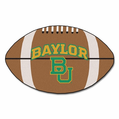 Baylor Football Shaped Rug