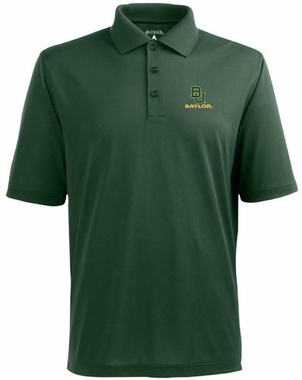 Baylor Mens Pique Xtra Lite Polo Shirt (Team Color: Green)