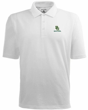 Baylor Mens Pique Xtra Lite Polo Shirt (Color: White)