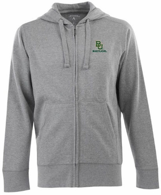 Baylor Mens Signature Full Zip Hooded Sweatshirt (Color: Gray)
