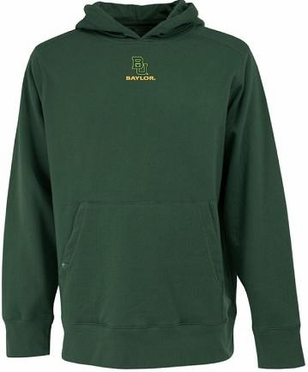 Baylor Mens Signature Hooded Sweatshirt (Team Color: Green)