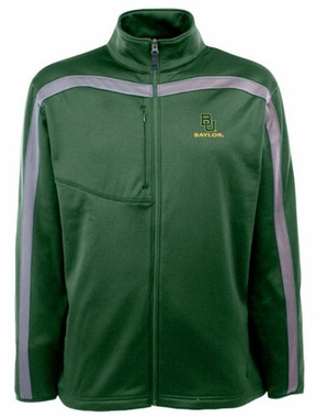 Baylor Mens Viper Full Zip Performance Jacket (Team Color: Green)