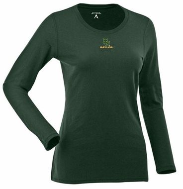 Baylor Womens Relax Long Sleeve Tee (Team Color: Green)
