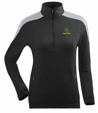 Baylor Womens Succeed 1/4 Zip Performance Pullover (Team Color: Black)