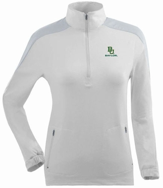 Baylor Womens Succeed 1/4 Zip Performance Pullover (Color: White)