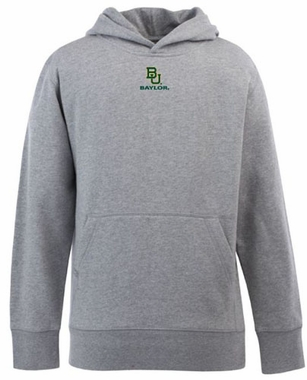 Baylor YOUTH Boys Signature Hooded Sweatshirt (Color: Gray)