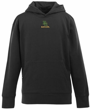 Baylor YOUTH Boys Signature Hooded Sweatshirt (Team Color: Black)