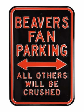 Beavers / Crushed Parking Sign