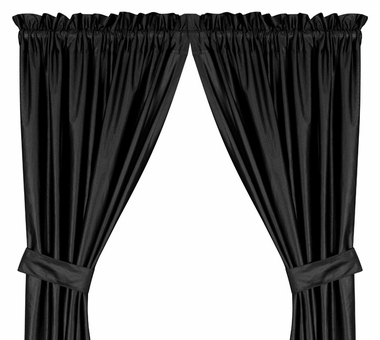Black Jersey Material Drapes (Pair)