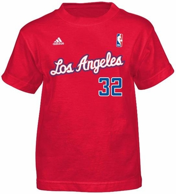 Blake Griffin Los Angeles Clippers YOUTH Adidas Red NBA Player T-Shirt