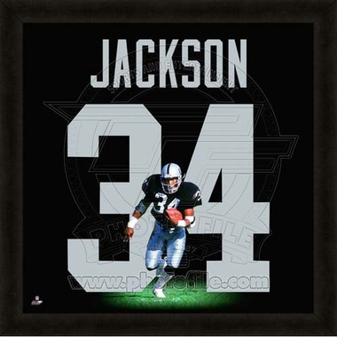 "Bo Jackson, Raiders UNIFRAME 20"" x 20"""