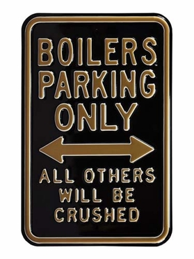 Boilers / Crushed Parking Sign
