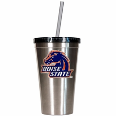 Boise State 16oz Stainless Steel Insulated Tumbler with Straw