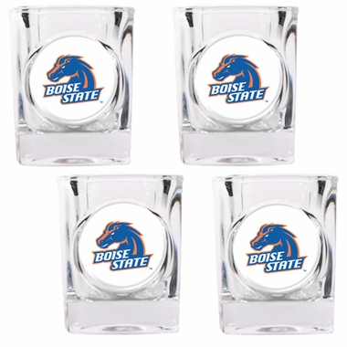 Boise State 4 Piece Shot Glass Set