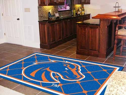 Boise State 5 Foot x 8 Foot Rug