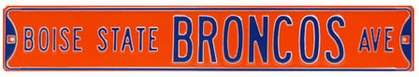 Boise State Broncos Ave Street Sign