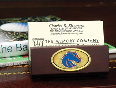 Boise State Business Card Holder