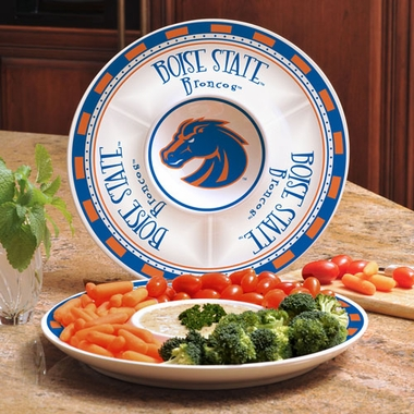 Boise State Ceramic Chip and Dip Plate
