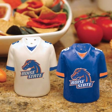 Boise State Ceramic Jersey Salt and Pepper Shakers